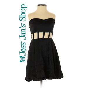 Keepsake Here and Now Bubble Dress Black Size 4